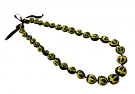 Kukui Nut Lei with Yellow Honus