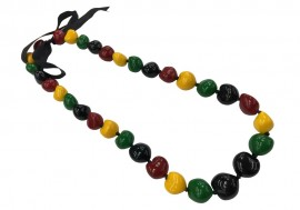 Rasta Kukui Nut Necklace