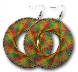 Rasta Dream Catcher Earrings