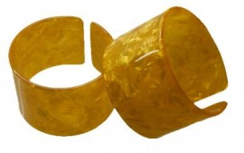 Gold Colored Turtle Shell Bracelet