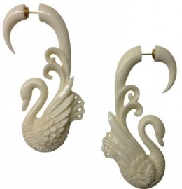 BoneSwan Faux Gauge Earrings