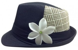 Black Tribal Fedora - Square Pattern