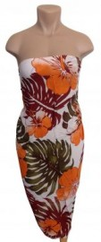 Flower Sarong - Hibiscus/Monstera