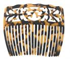 Turtle Shell Hair Comb - Carved Design