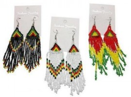 Rasta color Beads Earrings