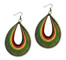 Rasta Dream Catcher Earrings