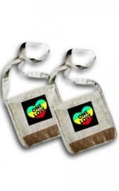 rasta Style Hemp Shoulder Bag - One Love
