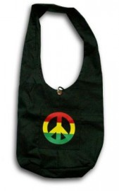 Rasta Style Shoulder Bag - Peace Sign