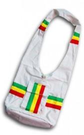 Rasta Style Shoulder Bag - Beige