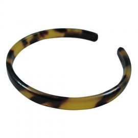 Extra Thin Turtle Shell Bracelet .6cm - Brown