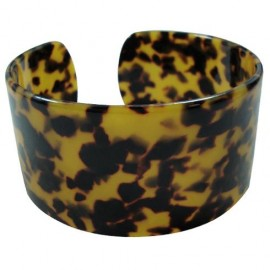 Turtle Shell Bracelet 4.5cm - Brown/Black