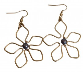 Plumeria Wire Earrings