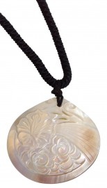 Hibiscus Shell Pendant Necklace