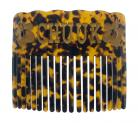 Hawaiian Samoan Micronesian Style Faux Turtle Shell Comb - CHUUK