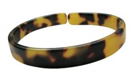 Brown/Black Turtle Shell Bracelet - 1.0cm - Adult Size