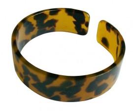 Faux Turtle Shell Bracelet - 2.0cm - Brown