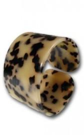 White Turtle Shell Bracelet 1 3/4