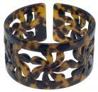 4.0cm Turtle Shell Bracelet - Carved Tiare Design